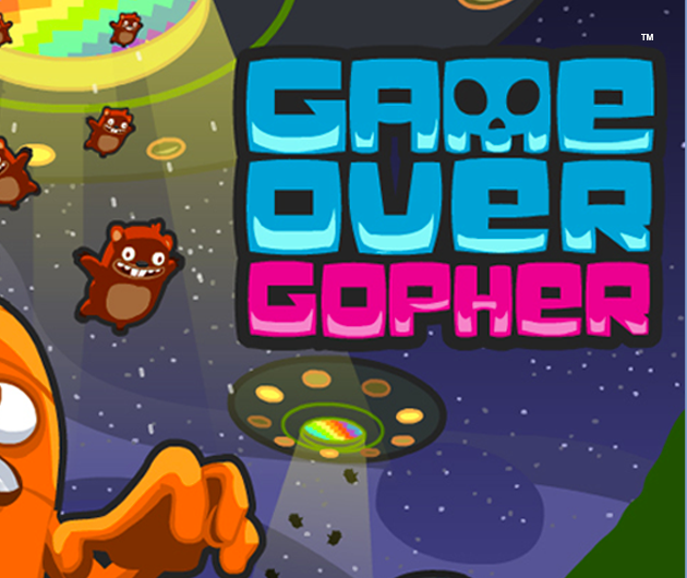 Game Over Gopher title
