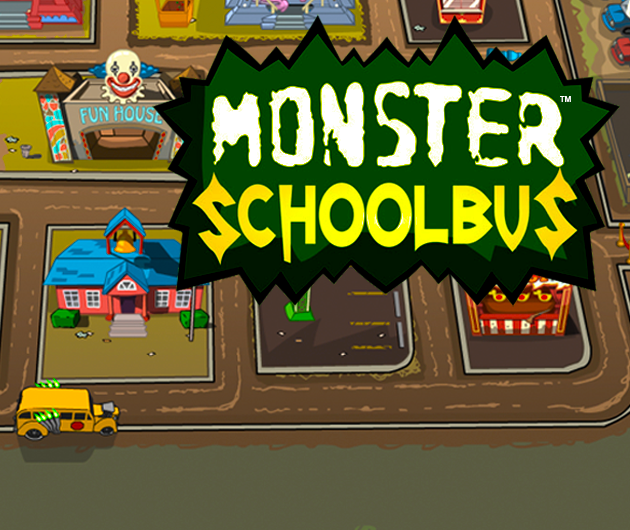 Monster School Bus title